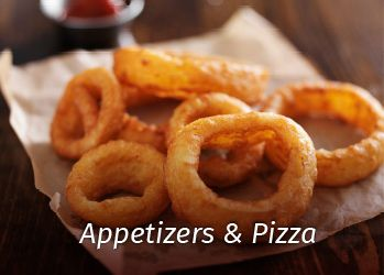 appetizers and pizza