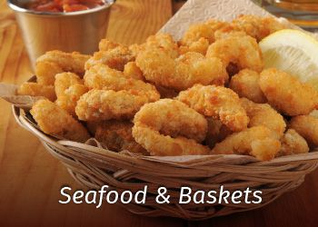 seafood and baskets